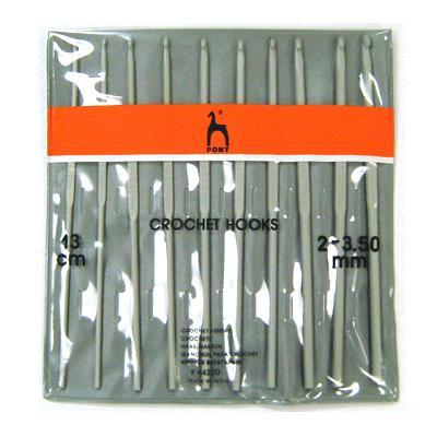 Набор крючков вязальных 2.0-3.5мм 13см 10шт 44220