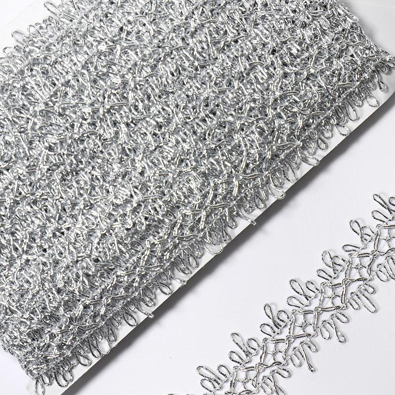 Тесьма 26мм 18.28м KD002 серебро