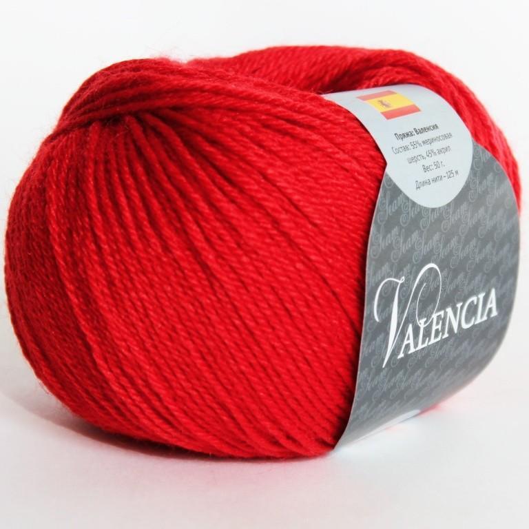 Пряжа Валенсия 80 - ярко-красный