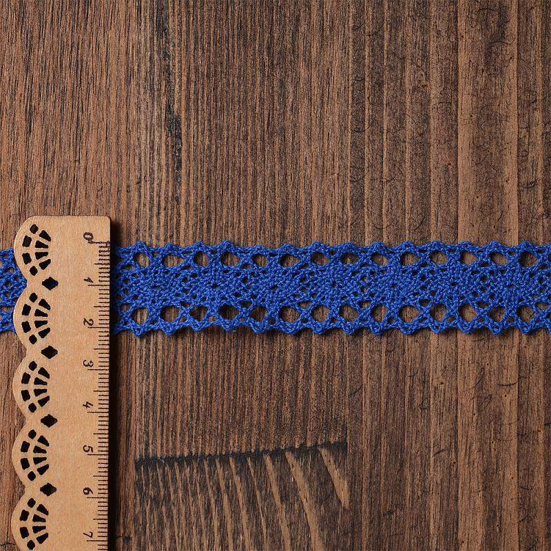 Тесьма вязаная TBY-6307-1.37 20мм 9.14м синий