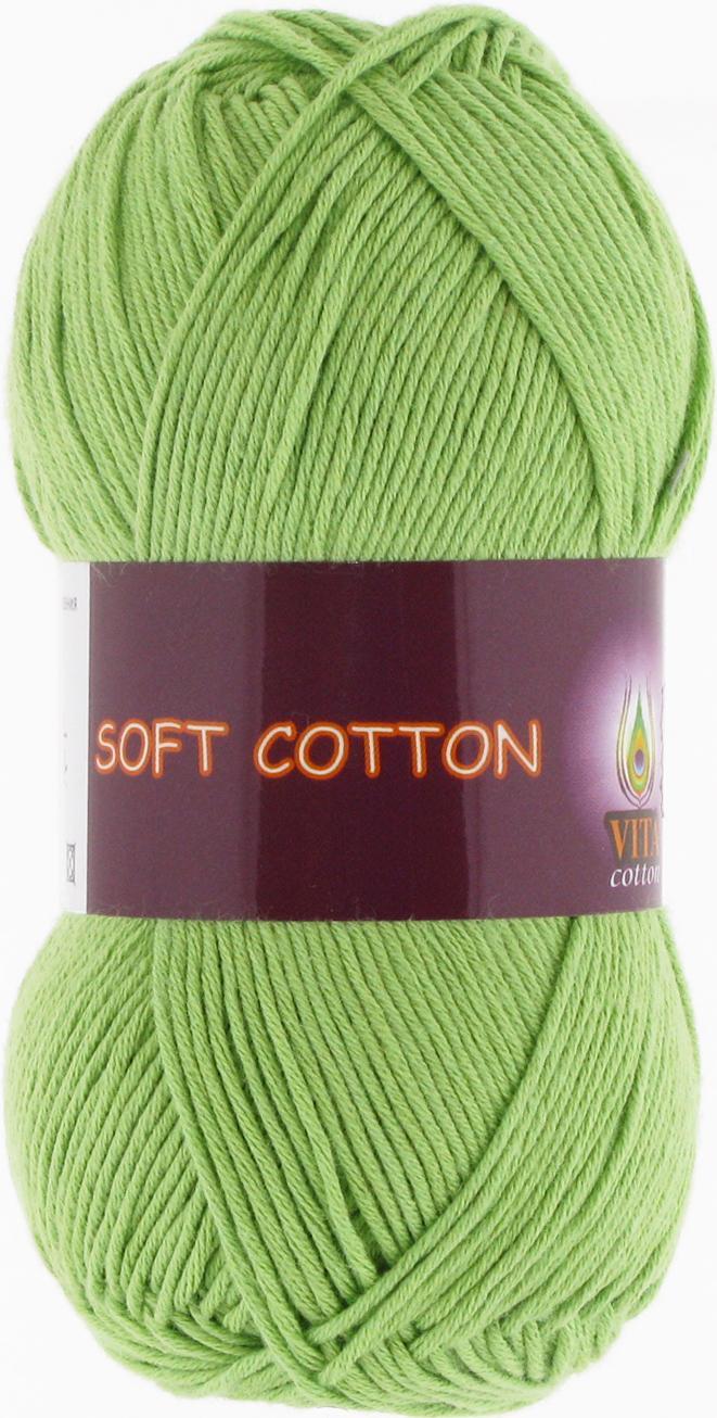 Пряжа Soft Cotton 1805 - молодая зелень