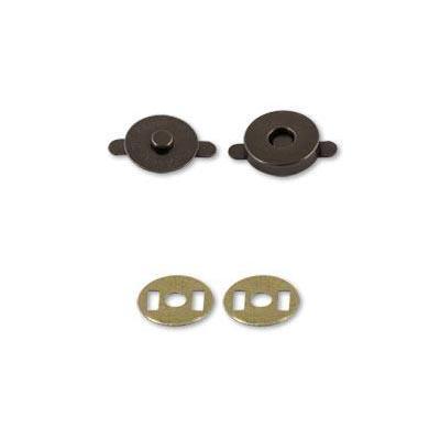 Кнопки магнитные металл 14мм МКМ-01 черный никель