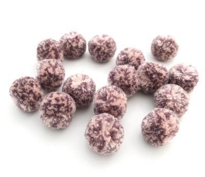 Помпоны мраморные 20мм 16шт розовый-сиреневый 25492