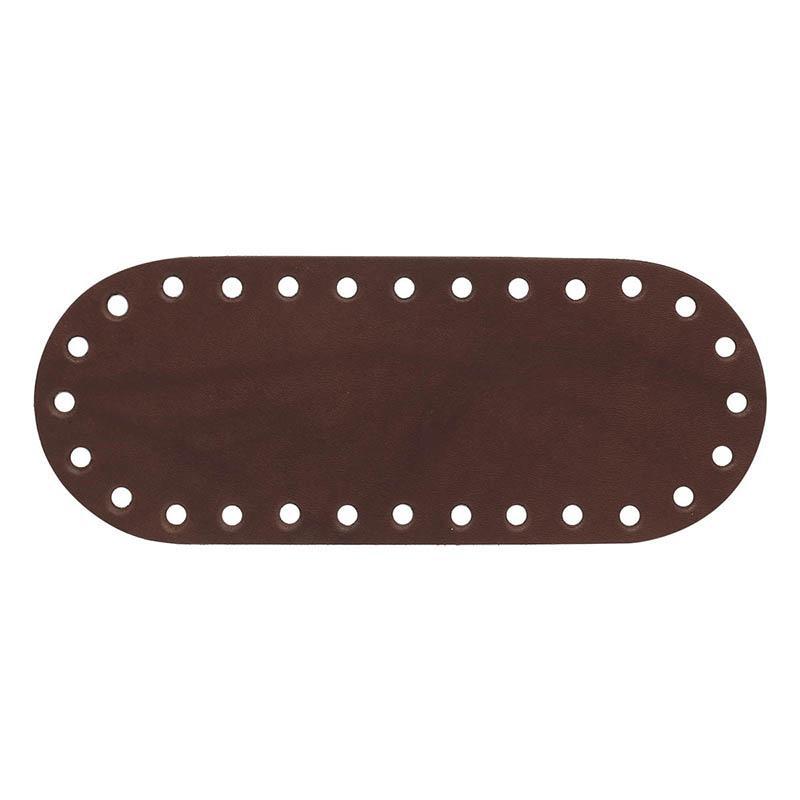 Дно для сумки кожаное 20,5х8см 100% кожа №502 св.коричневый 541017