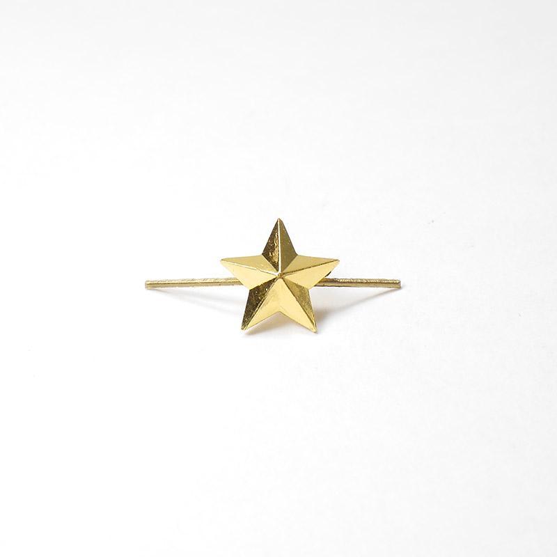 Звезда металлическая 13мм золотая с-348