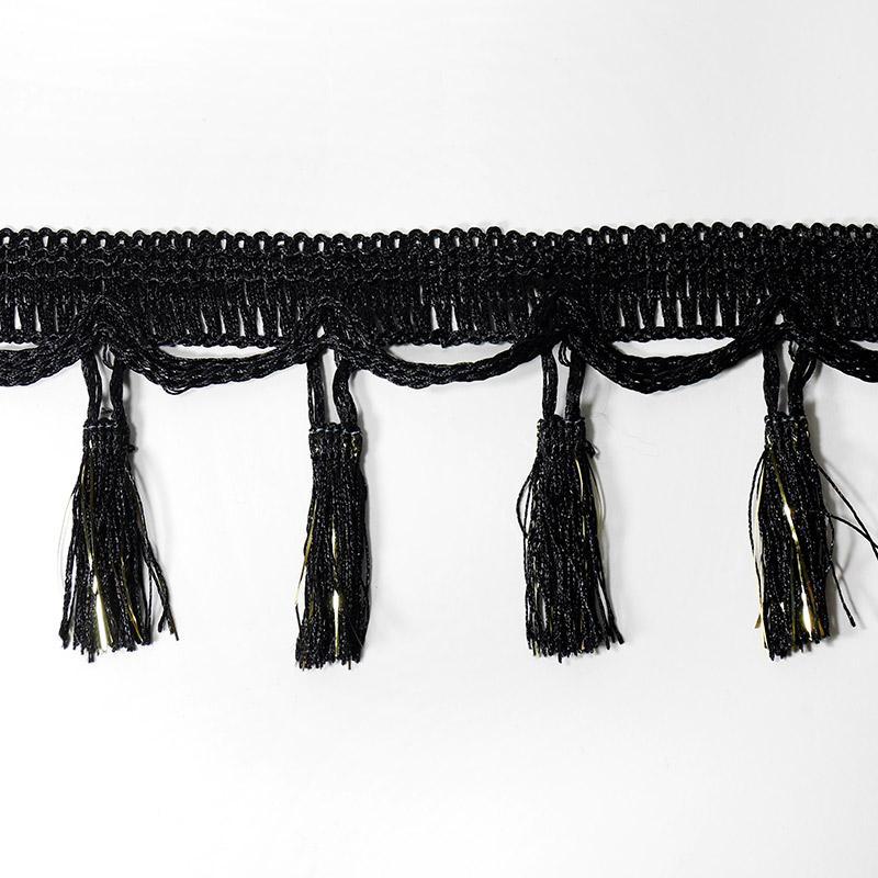 Бахрома 95мм арт F026 16м черный