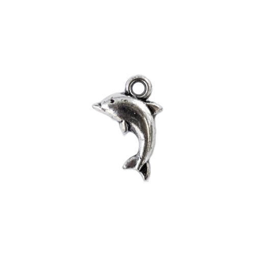 Подвеска декоративная Дельфин 18*12мм 2319 серебро 7704928 СК