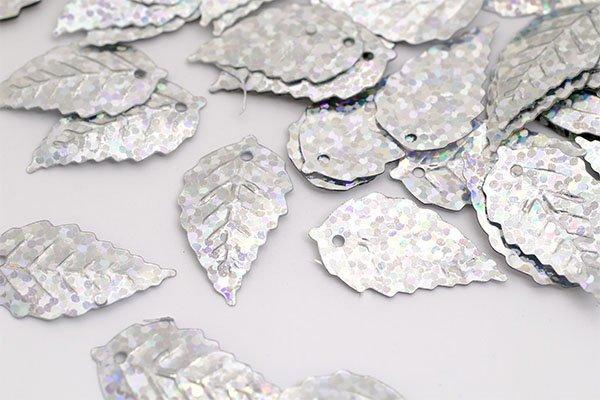 Пайетки TBY-FLK628 13х24мм 50гр 50112 серебряный