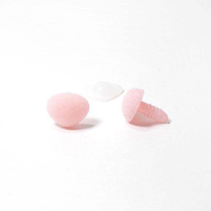 Носик винтовой бархатный 16х13мм треугольный бл.розовый