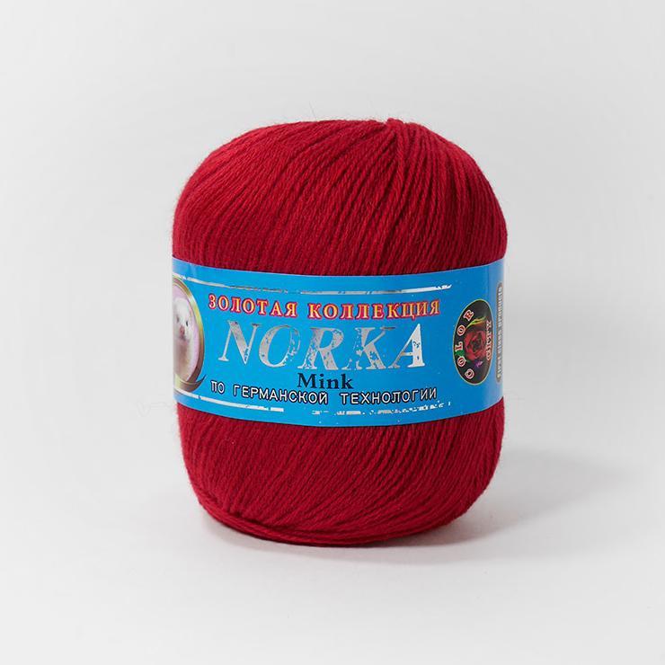 Пряжа Норка 208 - темн.красный