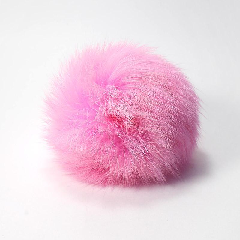 Помпон натуральный кролик 8см розовый