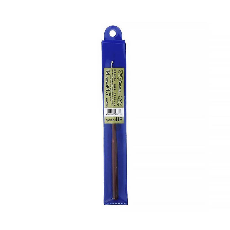 Крючок для вязания с пласт.ручкой Гамма 1,7мм HP