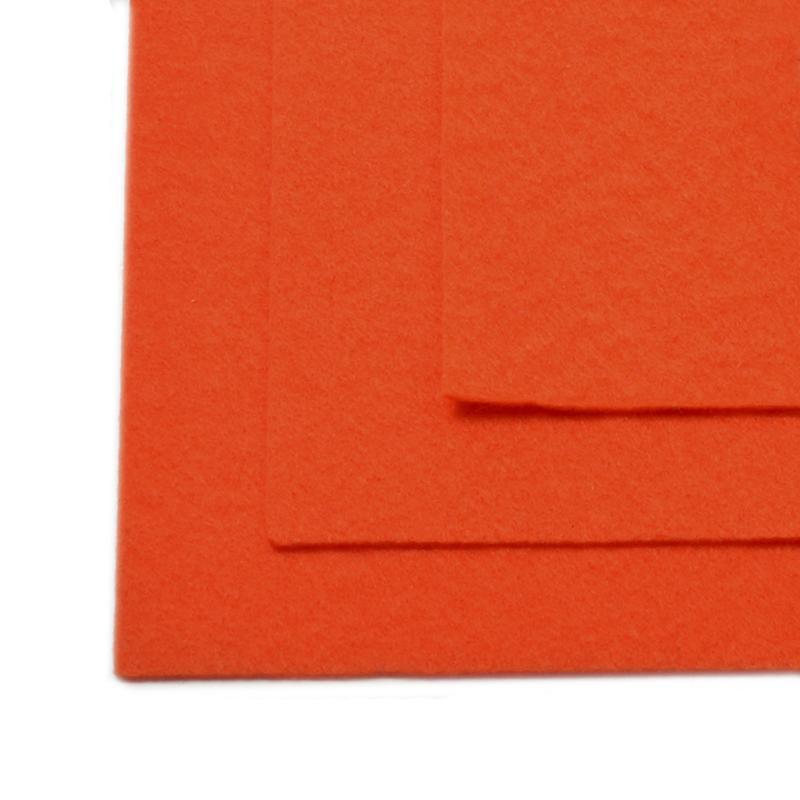 Фетр листовой жест. FLT-H1 1мм 20*30см 10шт 628 оранжевый IDEAL