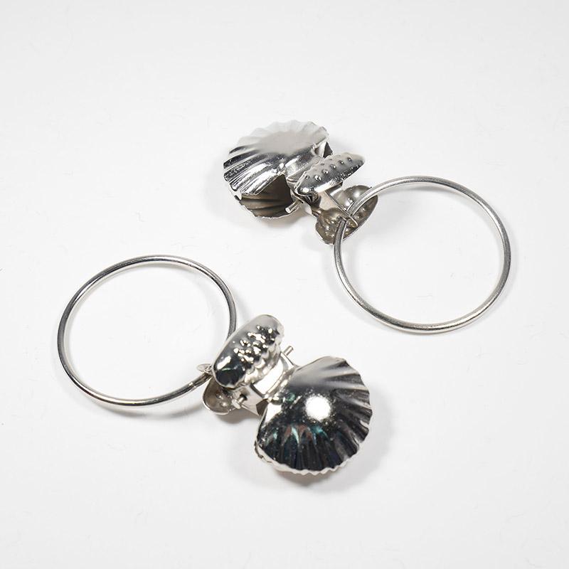 Зажим-ракушка с кольцом для штор (овс)