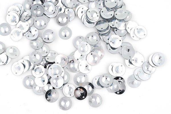 Пайетки TBY-FLK045 8мм 50гр 001 серебряный