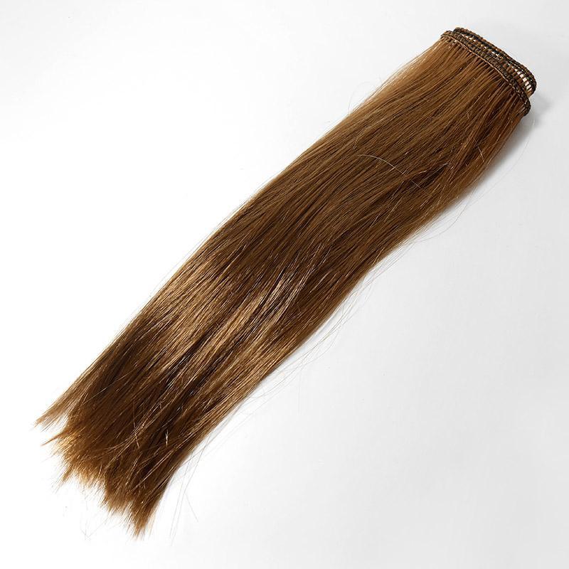 Волосы прямые трессы h25-28см, L47-50см, лесной орех