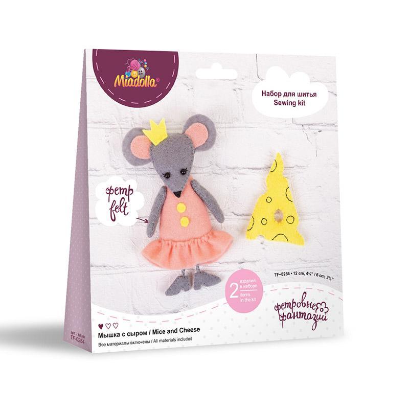 Набор для изготовления игрушки TF-0254 Мышка с сыром