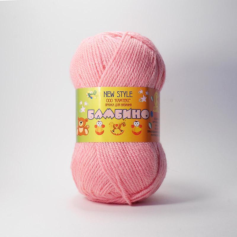 Пряжа Бамбино 054 - супер розовый