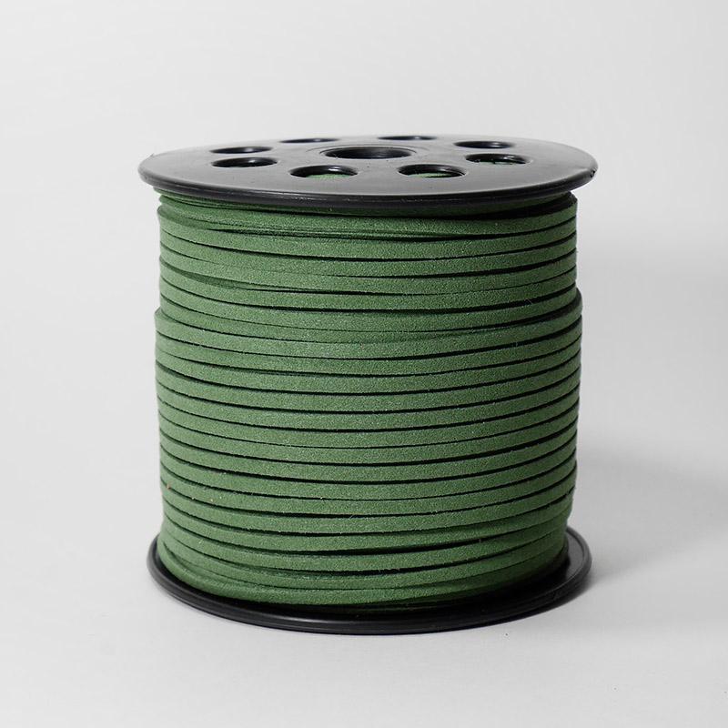 Полоска замшевая 2,5мм 90м 64 зеленый