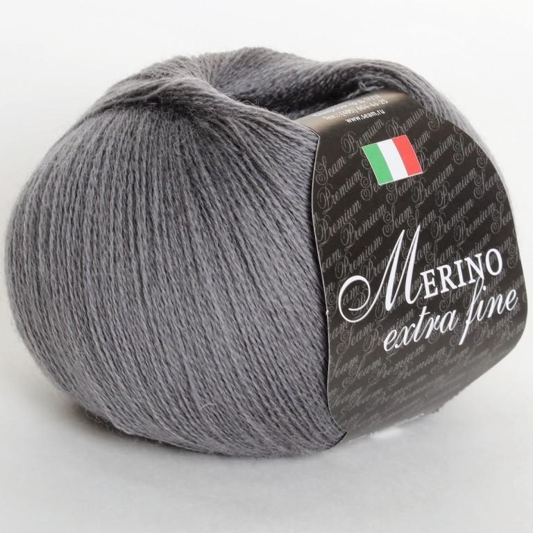 Пряжа Мерино экстра фине 09 - серый