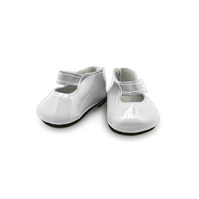 Туфли для игрушек лакированные 65х25мм белый 28339