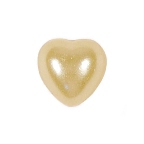 Полубусины Сердце 8х8 св.желтый 20г пластик