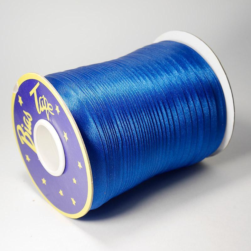Косая бейка атлас. №170 15мм 120 ярд яр.синий