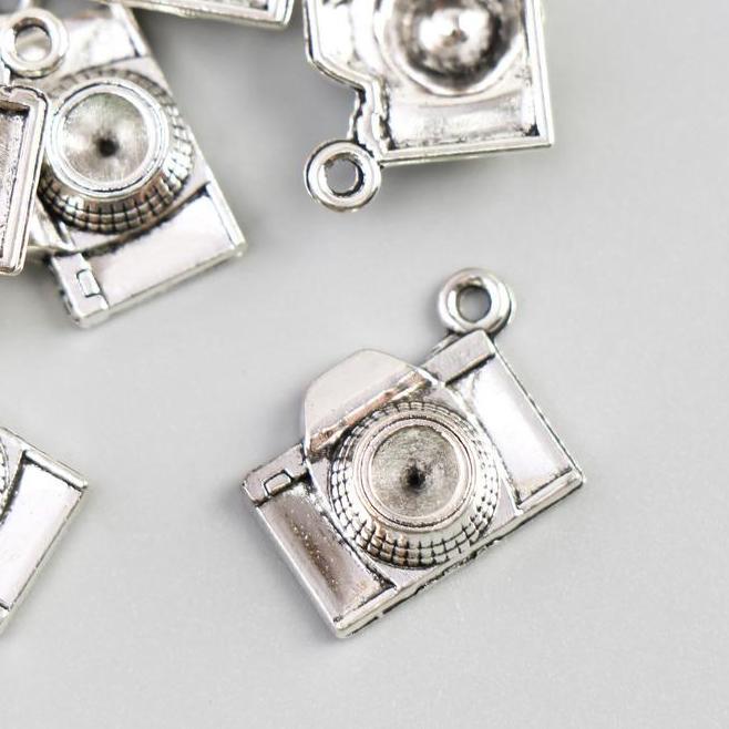 Декор для творчества металл Фотоаппарат 10шт серебро 4645652