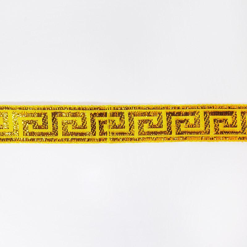 Тесьма жаккард 25мм 7м рис. 37 желтый